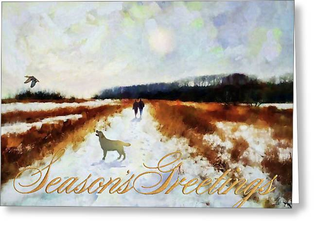 Greeting Card featuring the painting Broadland Walk by Valerie Anne Kelly