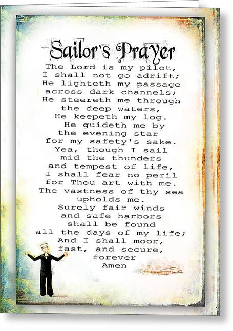 Sailor's Prayer Greeting Card