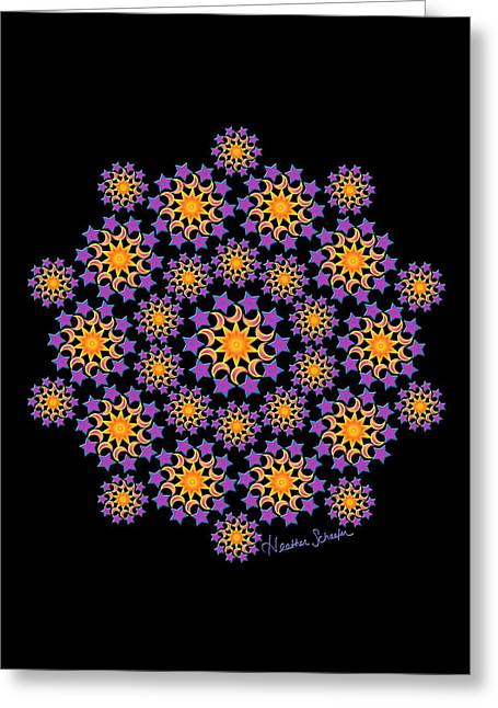 Sun Moon And Stars Greeting Card