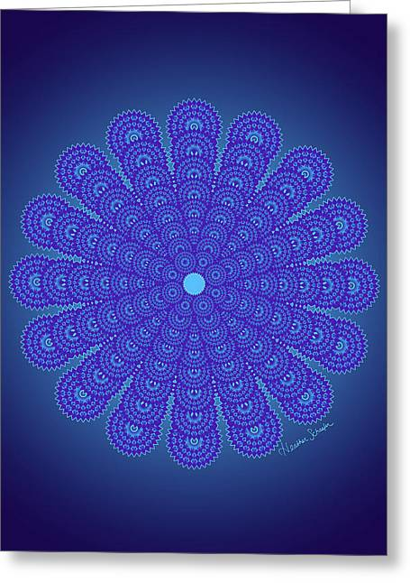 Blue Obsession Greeting Card