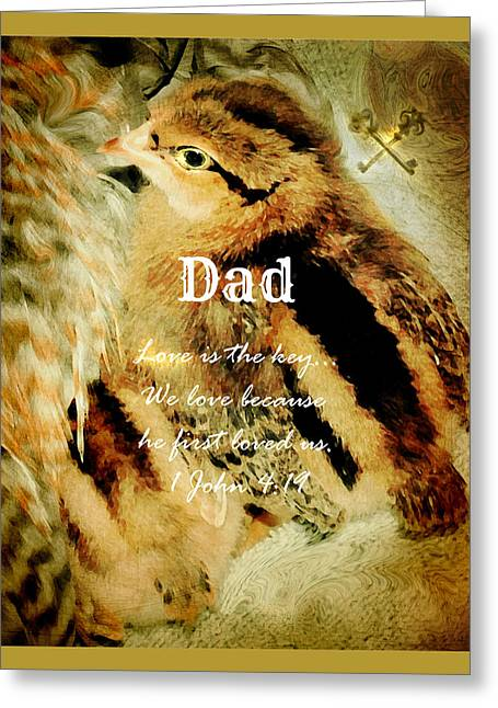 We Are Family - Dad Greeting Card by Anita Faye