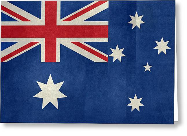 Australian Flag Vintage Retro Style Greeting Card