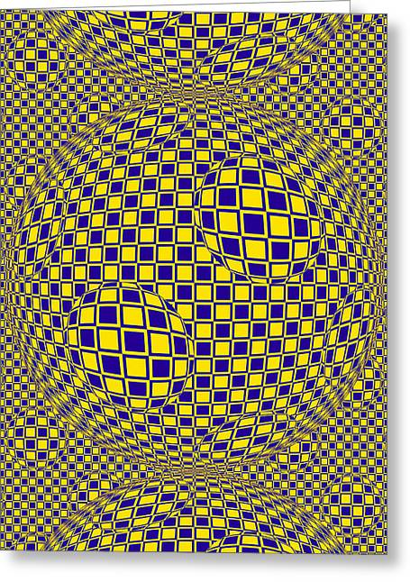 Purple And Yellow Sphere Untitled Greeting Card