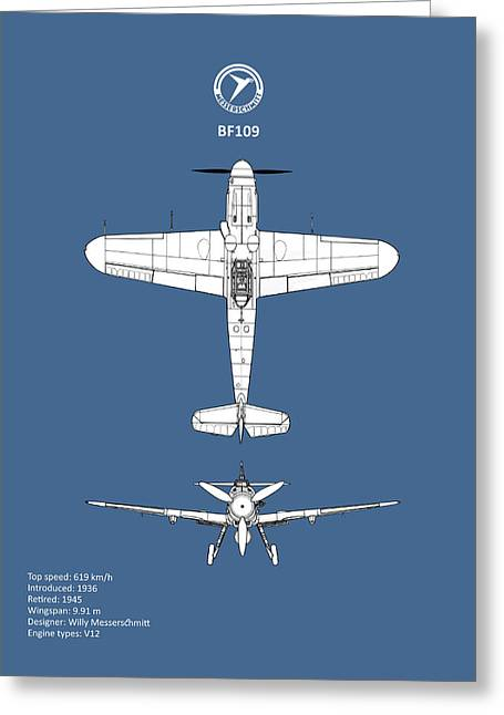 Messerschmitt Bf 109 Greeting Card by Mark Rogan