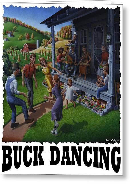 Buck Dancing - Mountain Dancing Greeting Card