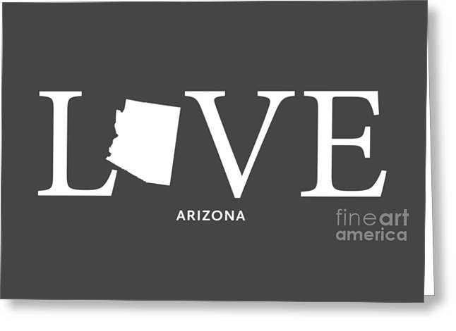 Az Love Greeting Card by Nancy Ingersoll