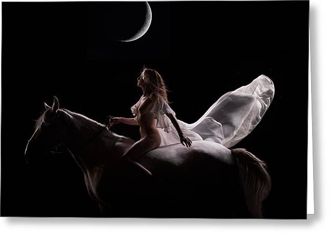 Greeting Card featuring the photograph Midnight Sojourn by Dario Infini