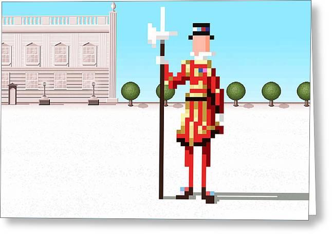 Royal Guard  Greeting Card by Uri Tuchman