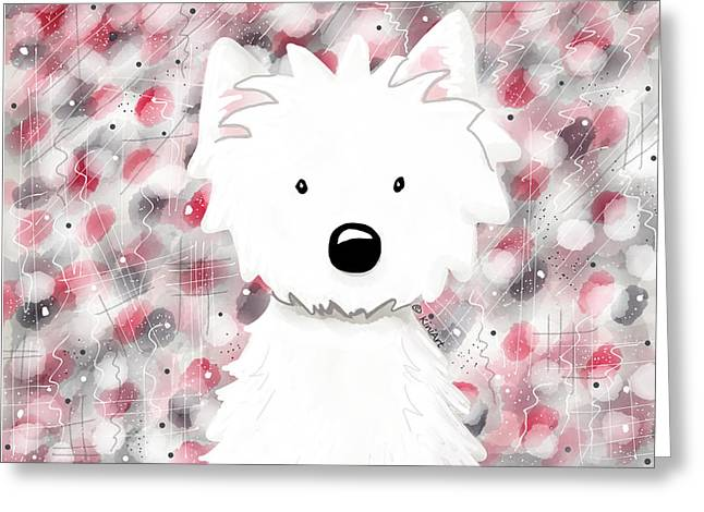 Westie Impressions II Greeting Card