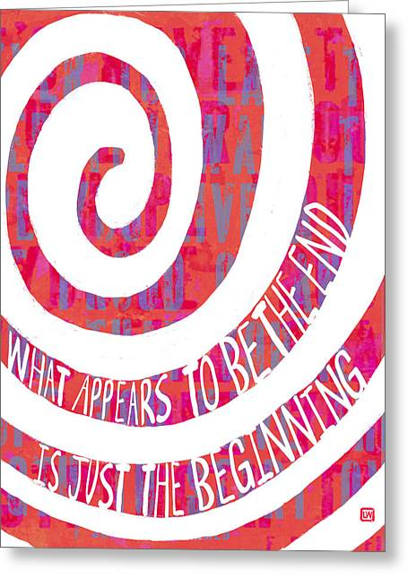 Just The Beginning Greeting Card by Lisa Weedn