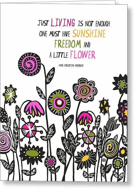 Hippie Garden Greeting Card by Lisa Weedn