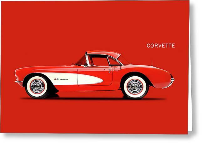 Corvette 57 Greeting Card