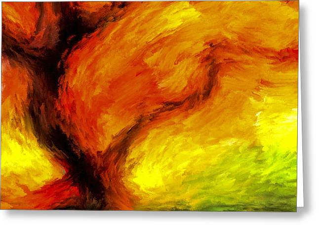 Fiery Colors Of Autumn Greeting Card