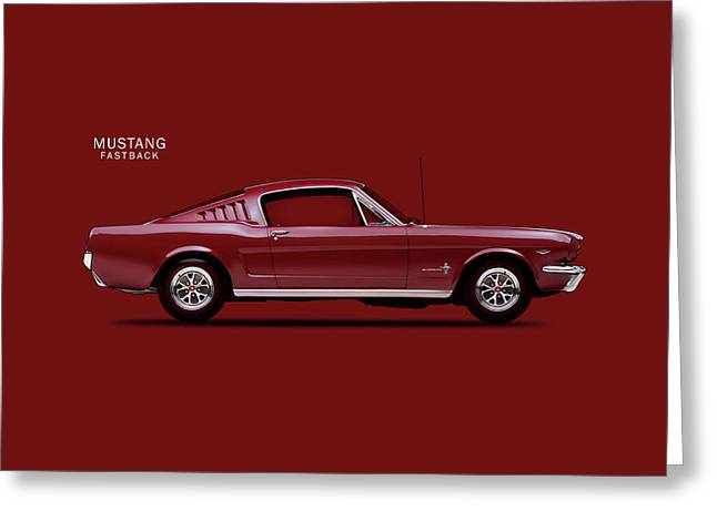 Mustang Fastback Greeting Card by Mark Rogan
