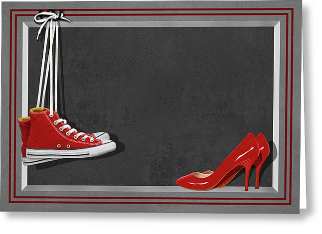 Shoes For Every Occasion Greeting Card by Monika Juengling
