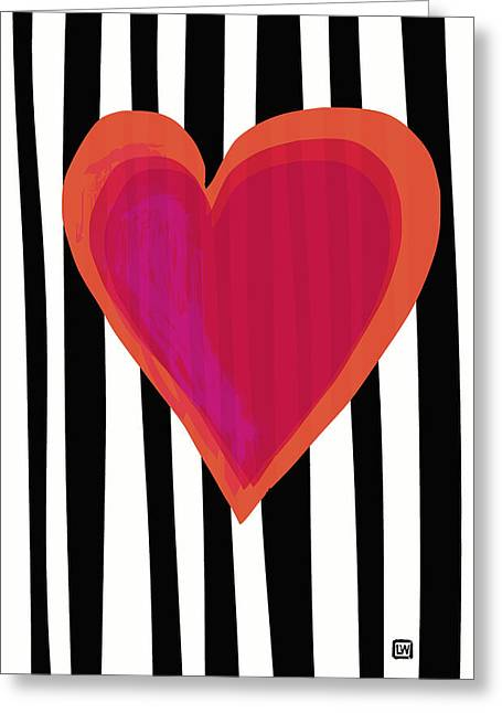Greeting Card featuring the painting Here Is My Heart by Lisa Weedn