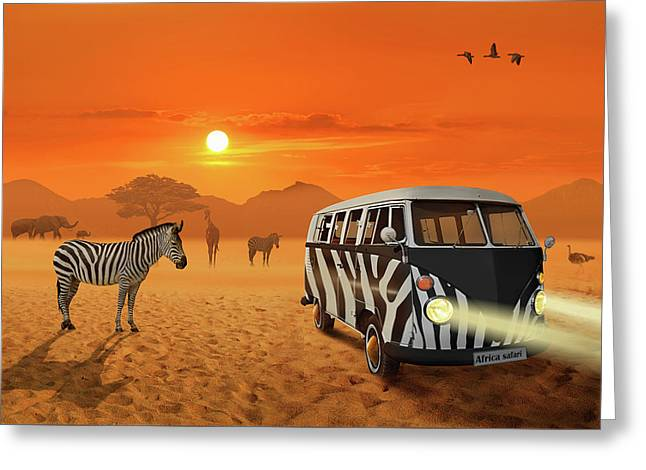 Africa Safari And Stripes Meeting Greeting Card