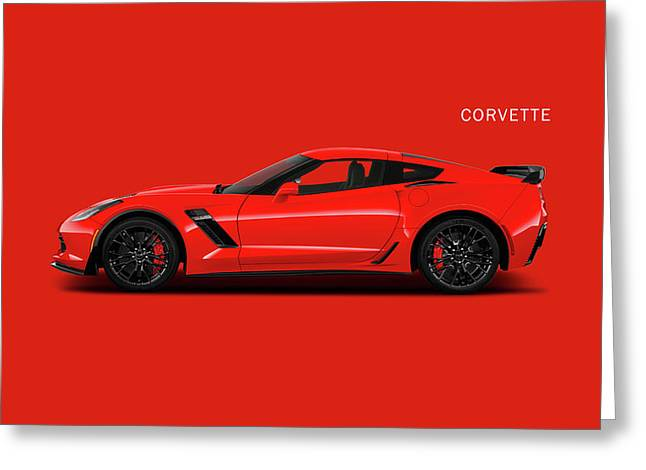The Red Vette Greeting Card