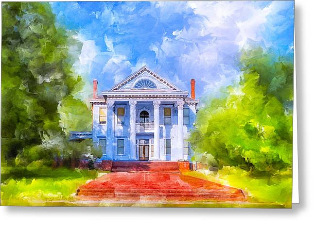 Gracious Living - Classic Southern Home Greeting Card by Mark E Tisdale