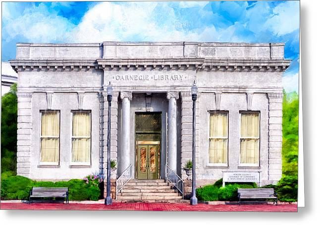 Classic Carnegie Library - Montezuma Georgia Greeting Card