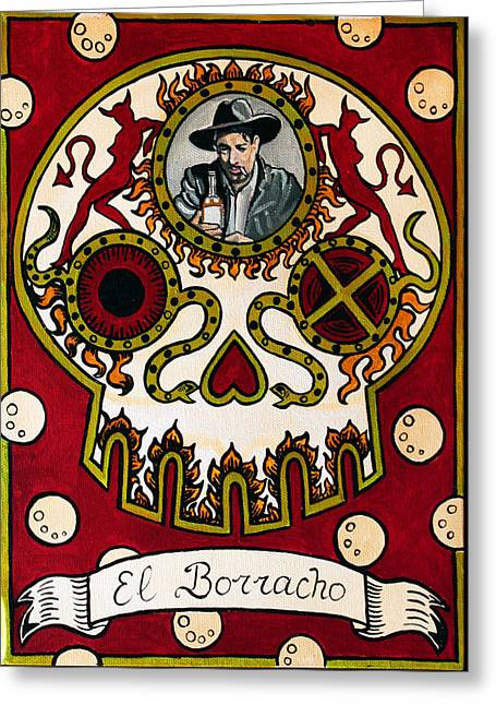 El Borracho - The Drunk Greeting Card