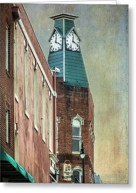 Clock Tower Downtown Statesville North Carolina Greeting Card