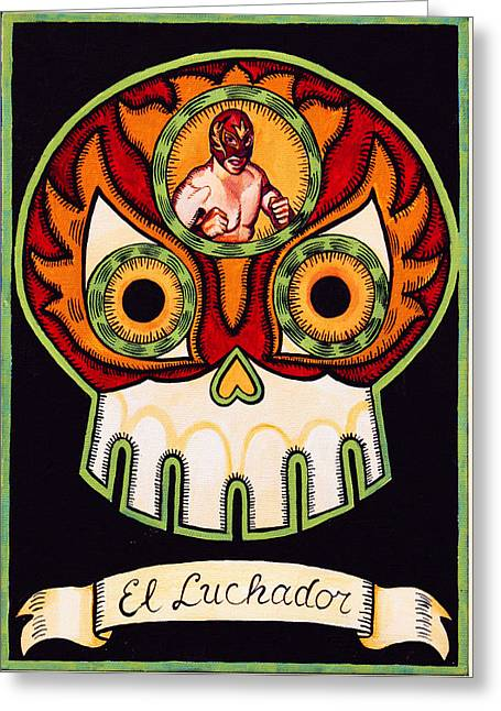 El Luchador - The Wrestler Greeting Card