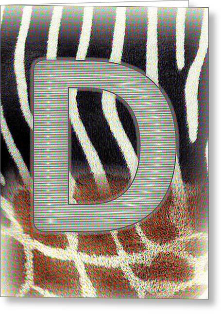 Monogram D Greeting Card