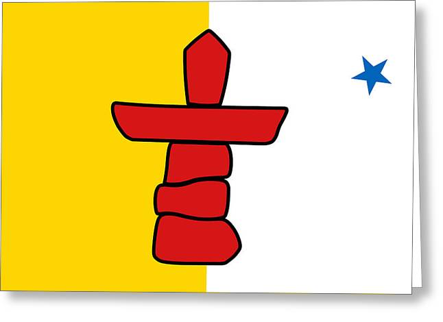 Flag Of Nunavut High Quality Authentic Hd Version Greeting Card