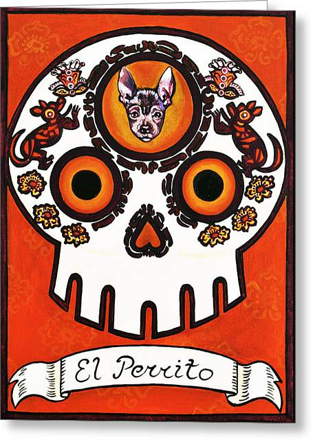 El Perrito - The Little Dog Greeting Card by Mix Luera