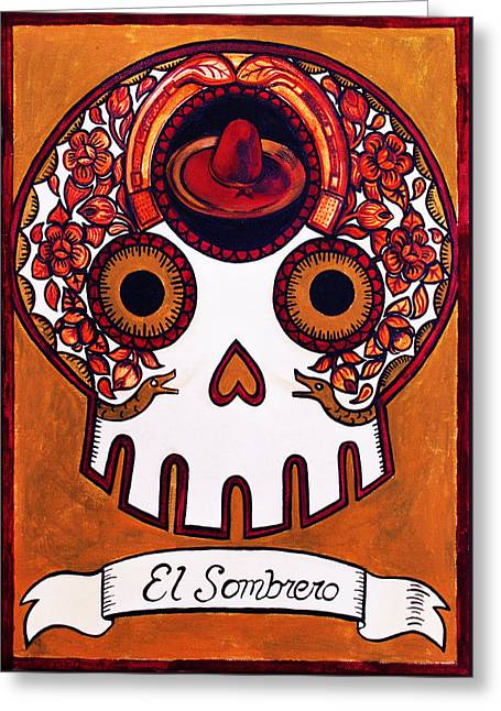 El Sombrero - The Hat Greeting Card by Mix Luera