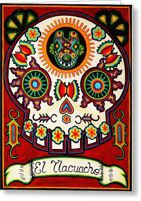 El Tlacuache - The Possum Greeting Card by Mix Luera