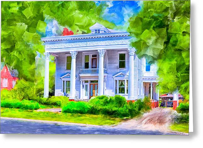 Classically Southern - Montezuma Georgia Greeting Card by Mark Tisdale