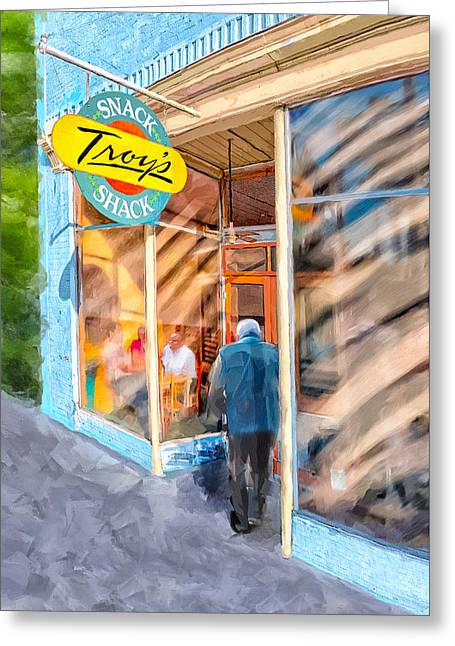 Lunch At Troy's Snack Shack Greeting Card by Mark Tisdale