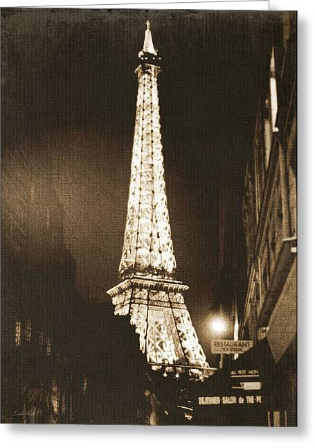 Postcard From Paris- Art By Linda Woods Greeting Card