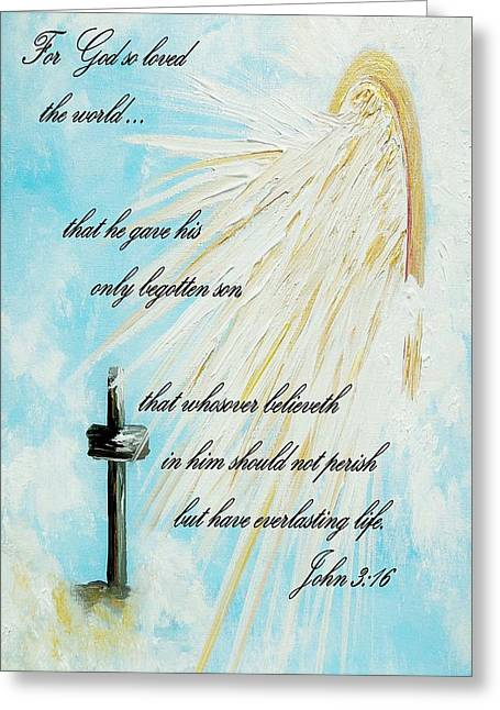 For God So Loved The World Greeting Card by Eloise Schneider