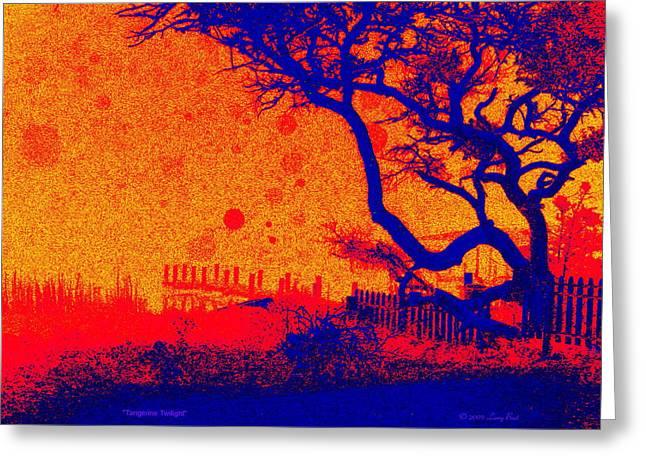 Tangerine Twilight Greeting Card by Larry Beat
