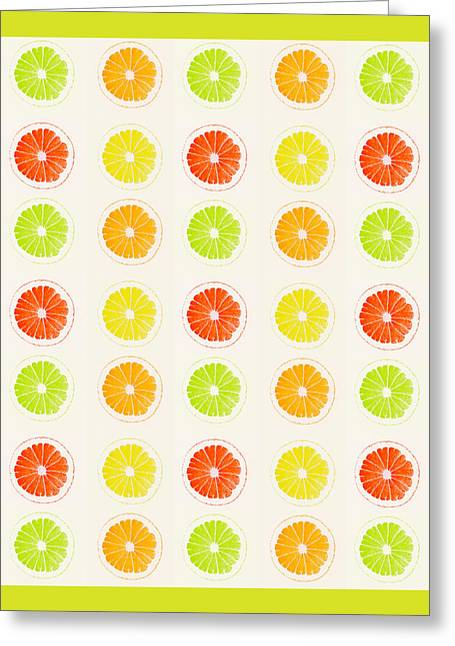 Juicy Citrus Greeting Card by Little Bunny Sunshine