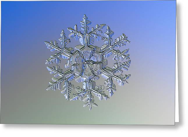 Greeting Card featuring the photograph Snowflake Photo - Gardener's Dream Alternate by Alexey Kljatov