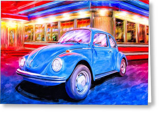 Your Chariot Awaits - Classic Vw Beetle Greeting Card