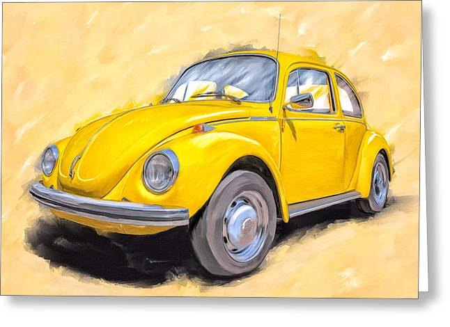 Ready To Go - Vintage Bug Greeting Card