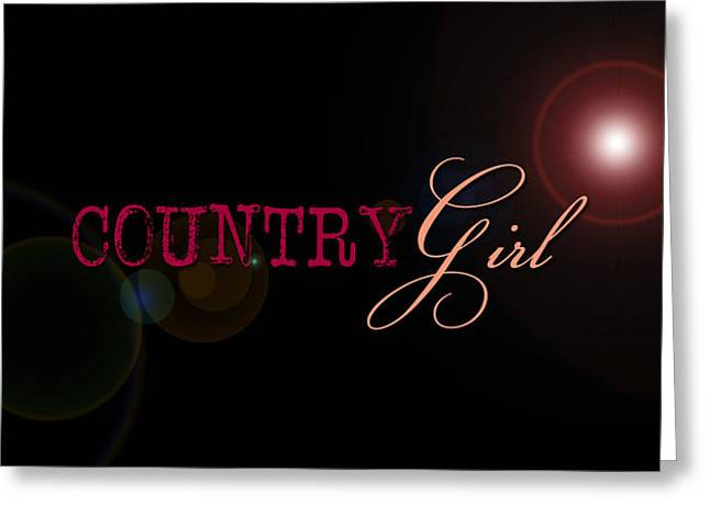 Country Girl Greeting Card by Liesl Marelli