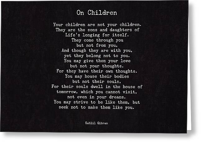 On Children Greeting Card