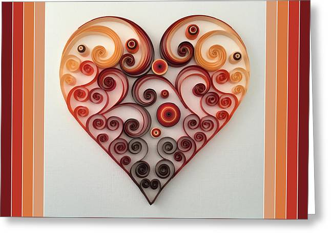 Quilling Heart 1 Greeting Card by Felecia Dennis