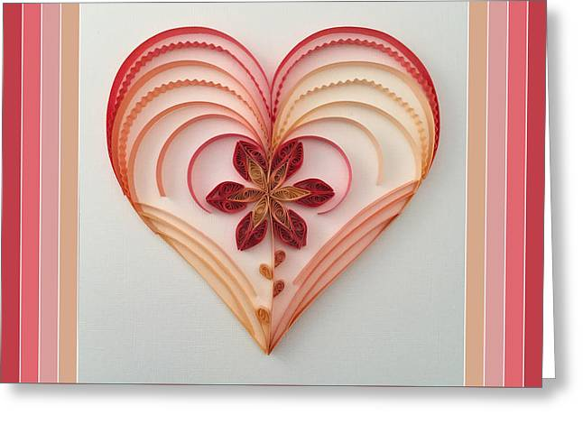Quilling Heart 2 Greeting Card by Felecia Dennis