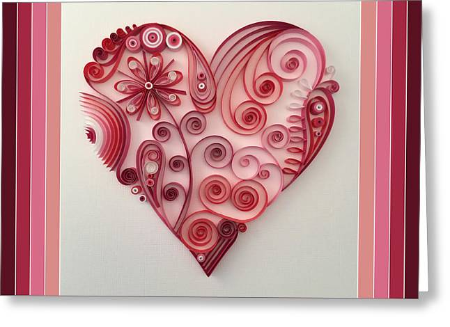 Quilling Heart 9 Greeting Card by Felecia Dennis
