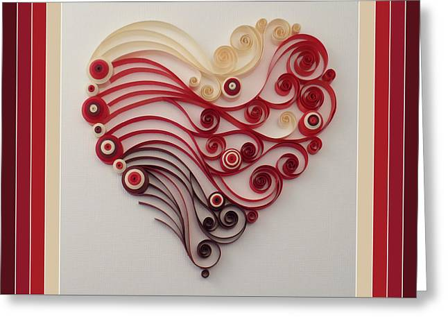 Quilling Heart 4 Greeting Card by Felecia Dennis