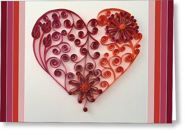 Quilling Heart 7 Greeting Card by Felecia Dennis