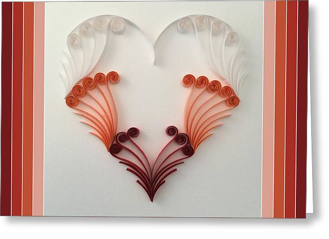 Quilling Heart 8 Greeting Card by Felecia Dennis