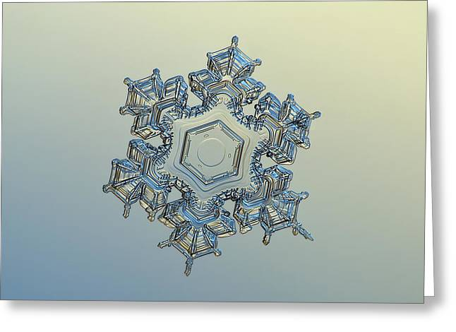 Snowflake Photo - Iron Crown Greeting Card by Alexey Kljatov